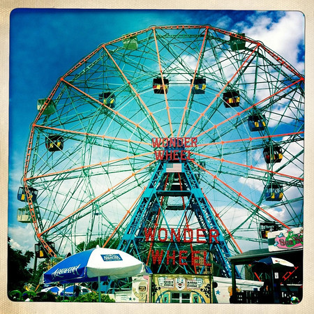 Wonder Wheel, Coney Island - by Kerry